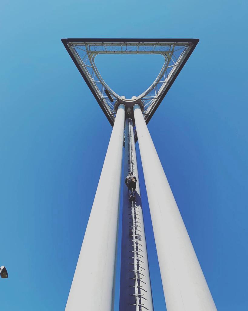 Aufstieg Ikea-Turm in Hannover